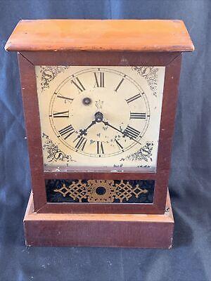 Antique Waterbury Clock Co. Pendulum Chime COTTAGE Mantel Clock 1800's Parts