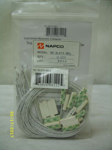 NAPCO - Alarm System Gold Series Magnetic Contacts - 10 Pack ~ NC-SL075-MCL
