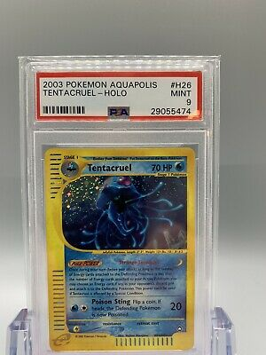 💦 Tentacruel Holo - Pokemon Aquapolis Set - PSA 9 - MINT 🌱