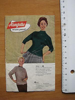 Prospekt aus den 1950er Jahren Hengella Trikot - u. Strickwarenfabrik GmbH