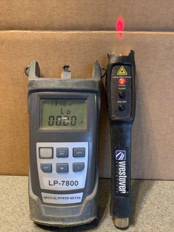 JDSU Westover FFL-100 2.5mm Visual Fault Locator & LP-7800 Optical Power Meter