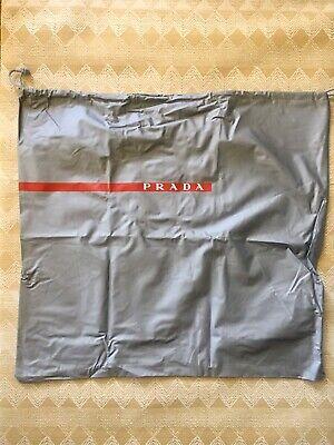Authentic PRADA SPORT Silver PVC Dust Bag Storage Cover 17.5 X 18.5 *NEW*