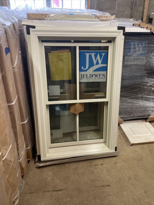 """Jeld Wen Aluminum Clad Double Hung Energy Efficient Window 30"""" X 48"""" No Screen"""