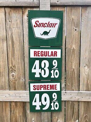 Sinclair Gasoline sign rare 3 piece vintage reproduction 1940-50s Pump Gas Oil