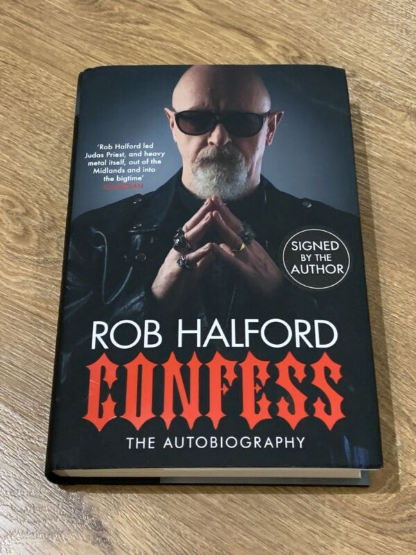 ROB HALFORD Confess: The Autobiography Signed First Edition Hardcover Book New