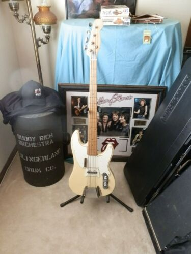 VINTAGE BASS FENDER LAWSUIT BLONDE TELECASTER ELECT GUITAR,MADE IN JAPAN W/ CASE