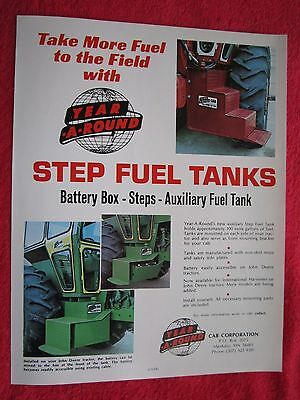 Vintage 1970s Year-a-round Tractor Step Fuel Tanks Rock Box Brochure