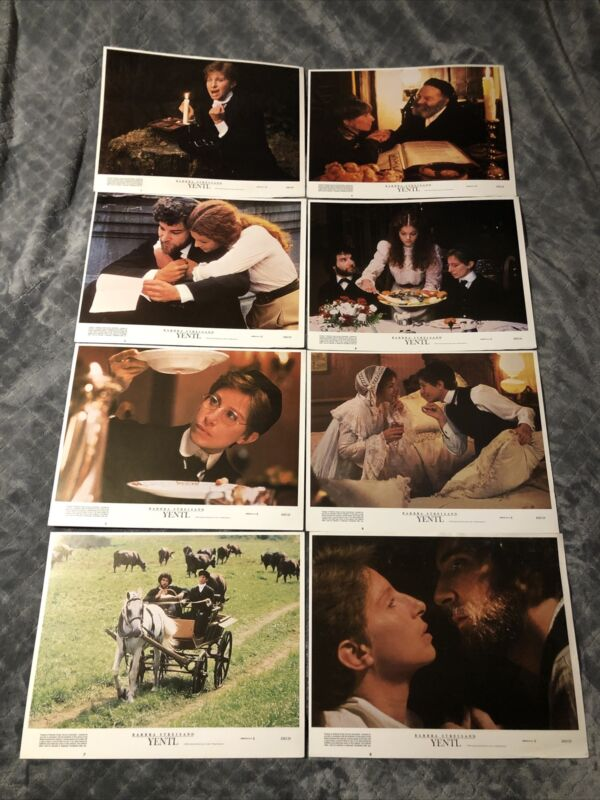Set Of 8 - 1983 Lobby Card - Yentl - Barbra Streisand