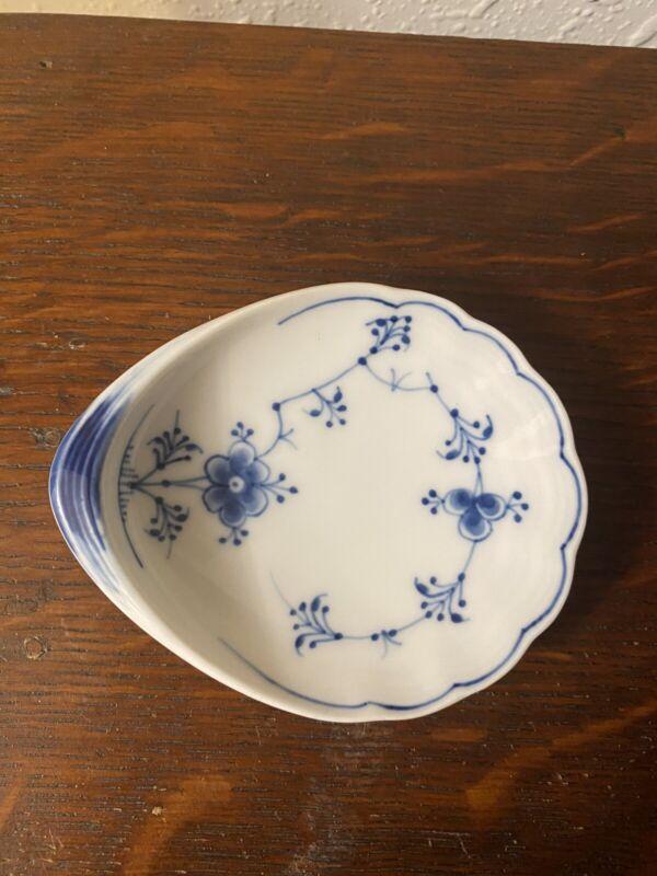 Royal Copenhagen Blue Plain Butter Pat or Small Dish  - Excellent