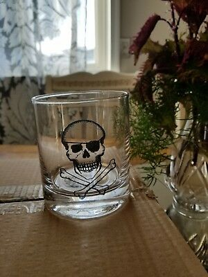 Old Fashioned Halloween (Pottery Barn Skull & Crossbone Double Old Fashioned Glass Set 4 pirate)