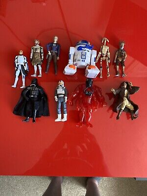 10x Hasbro 2000+ Star Wars Action Figures Bundle job lot - STAR WARS - (4)