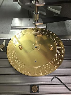 Brass Engraving Plate New Hermes Font Tray Instrument Dial Degrees Wheel 360-45a