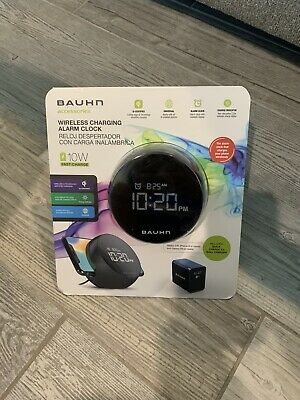 Bauhn Alarm Clock Wireless Qi Phone Charger Combo  iPhone 8 Galaxy S6 Or Higher