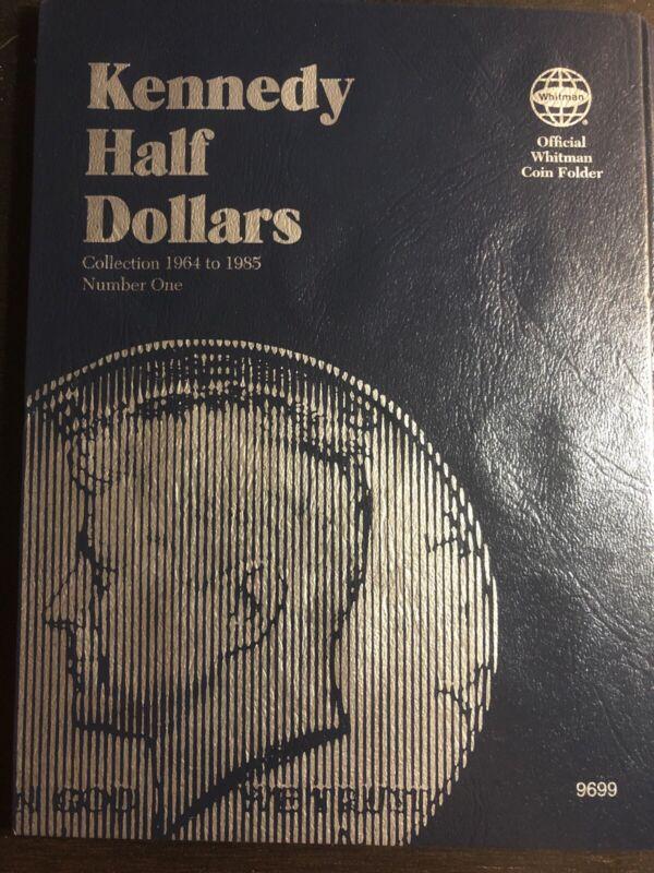 Whitman Kennedy Half Dollar Coin Folder album Book #1 1964-1985 #9699