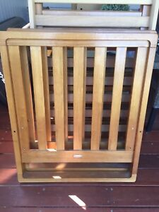 Timber cot - free to collect (minor damage)