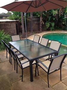Outdoor setting with 8 chairs Eaglemont Banyule Area Preview