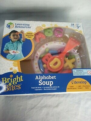 Learning Resources Alphabet Soup, Fine Motor Toy, ABCs, Pre-Reading, Early Phoni