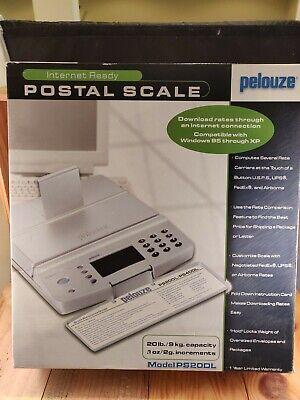 Pelouze Tabletop Digital Shipping Postal Scale Ps20dl 20lb Capacity Nib