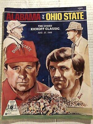 1986 ALABAMA CRIMSON TIDE vs OHIO STATE Buckeyes Cris CARTER Spielman BEAR (Ohio State Buckeyes Vs Alabama Crimson Tide)