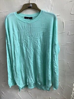 👀 M&S Collection 👀Size L 🍏 Pale Jade Green Long Tunic Jumper BNW🏷
