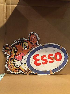 Esso Tiger Metal Sign
