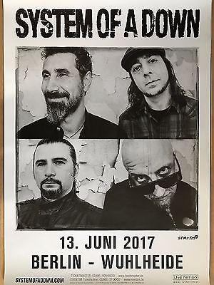 SYSTEM OF A DOWN  2017  BERLIN   + orig.Concert Poster -- Konzert Plakat  DIN A1