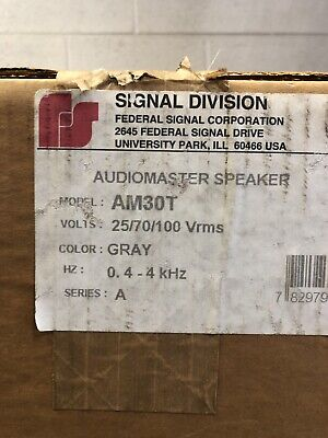 Federal Signal Am30t Audiomaster Speaker New In Box