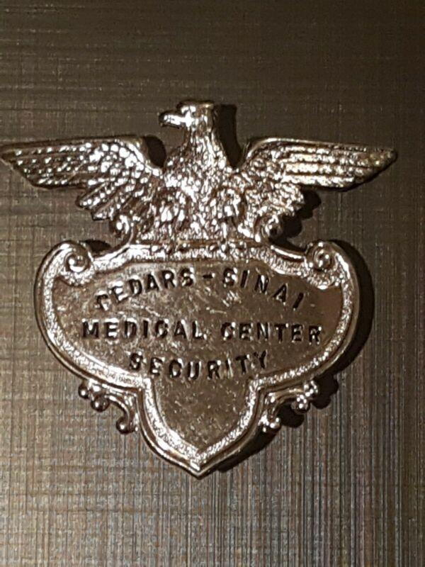 OBSOLETE LA Cedars Sinai Medical Center Security Hat Badge SCARCE Find