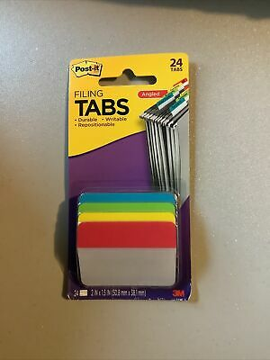 Post-it Angled Filing Tabs- 24 Pack 686a-alyr Free Shipping