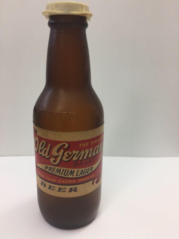 German 1963 Beer Bottle Label Plastic Rare Cap 7oz Vintage - TP