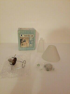 Provo Craft Tea Light Frosted Glass Lamp White 7 1/4 x 4 (Provo Sunglasses)