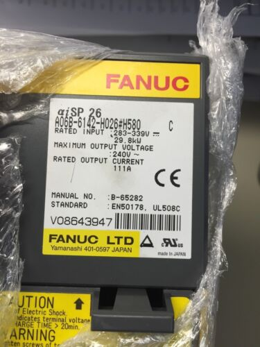 SPINDLE AMP MODULE AISP-26 FANUC A06B-6142-H026#H580