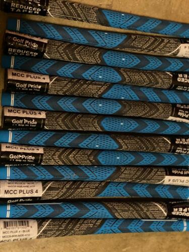 13X NEW Golf Pride MCC Plus 4 Golf Grips- Standard- Blue