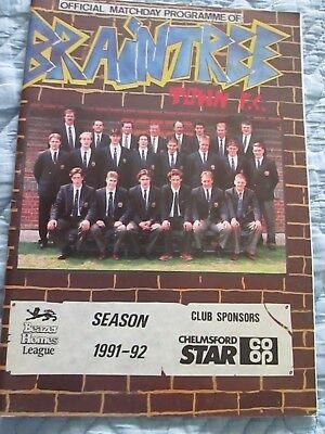 Braintree Town V Salisbury    Beazer Homes League   1991 92