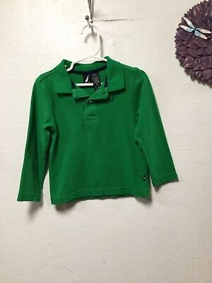 Boys shirt toddler size 3 T green long sleeve Nautica 158