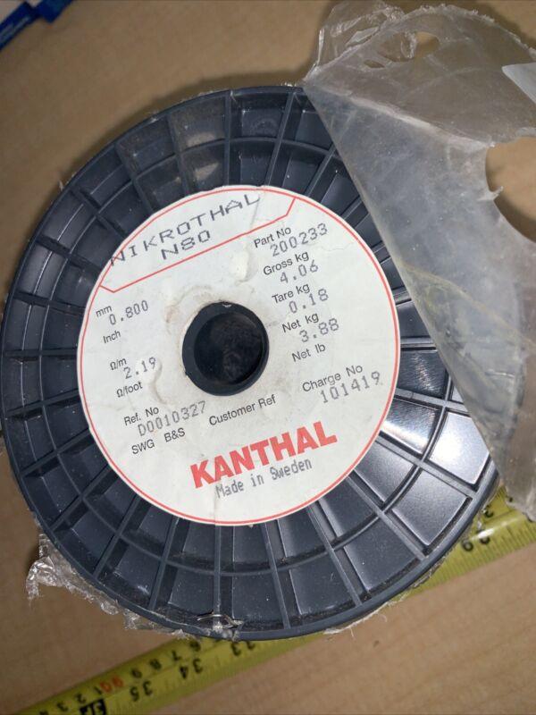 Sandvik N80 Nikrothal 0.8mm J-041 Nickel Chrome Wire 8.5 Pounds