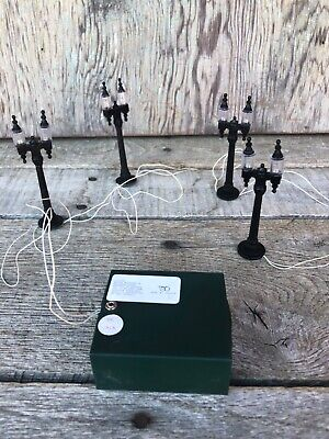 Miniature Village/Train Set Display Battery Operated Lamp Posts, Dept. 56