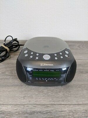Emerson CKD9901 Alarm LED Display Clock CD Digital Player AM/FM Radio WORKS