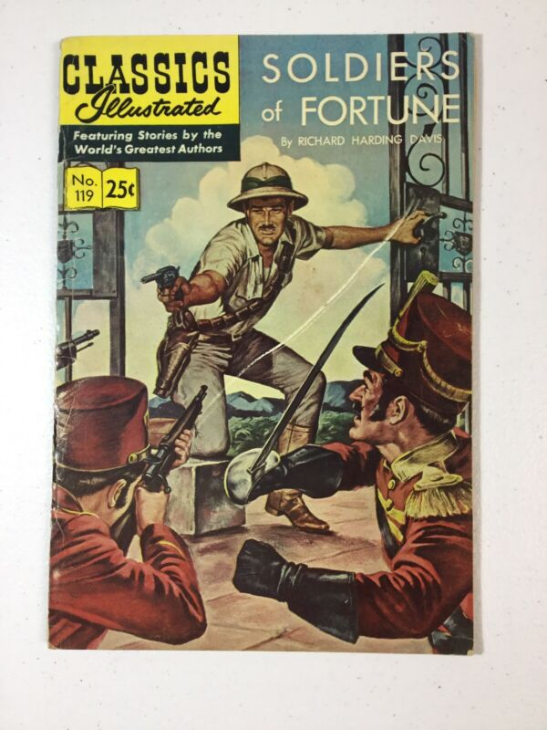 Soldiers Of Fortune Richard Davis No. 119 Classics Illustrated Comic Book