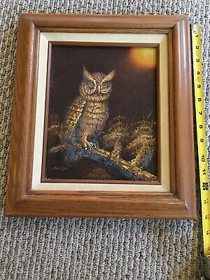Shilto Owl Oil Painting Signed And Framed Vintage RARE
