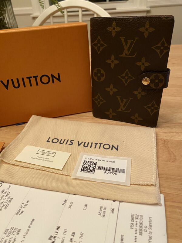 Louis Vuitton PM Agenda (Small) Authentic In Monogram