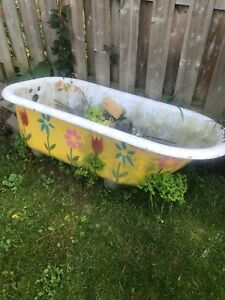 Old cast iron tub