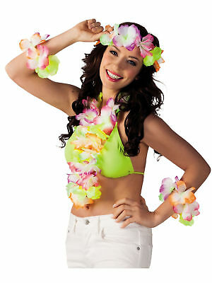HAWAII SET SUNSHINE BL TENKETTE ARMB NDER KOPFSCHMUCK BEACHPARTY KARNEVAL