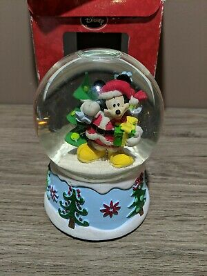 Mickey Mouse Christmas Santa Musical Water Globe Disney Kcare in box