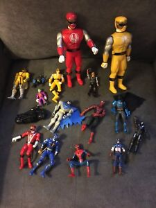 Lot - superheroes and power rangers