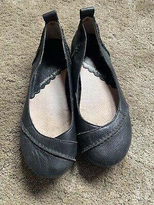 Hush Puppies Janessa Black Flat Shoes UK 7