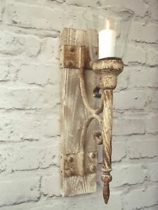 Candle wall lights ebay french shabby chic wall sconce candle holder antique vintage style wall light aloadofball Choice Image