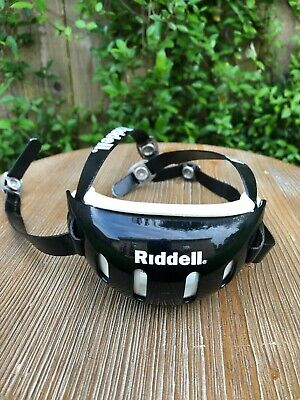 Black Riddell Mid//High Hook-Up Hard Cup Chin Strap NEW Small