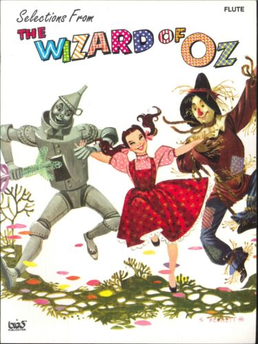 Wizard Of Oz Selections Flute Book 1995 Cuellar Over The Rainbow Witch Is Dead