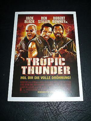 Tropic Thunder  Film Card  Ben Stiller  Jack Black  Robert Downey  Jr